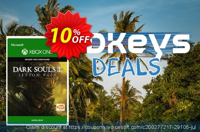 Dark Souls III 3 Season Pass Xbox One - Digital Code discount 10% OFF, 2020 College Student deals offering sales