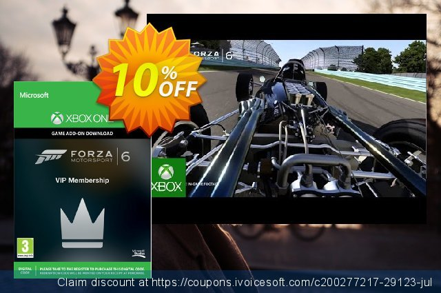 Forza Motorsport 6 VIP Membership Xbox One - Digital Code 令人恐惧的 产品销售 软件截图