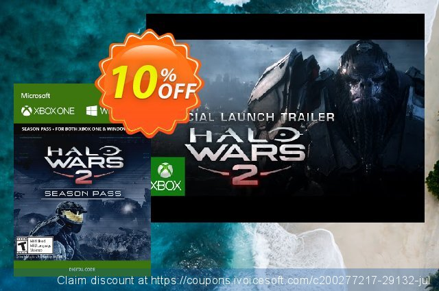 Halo Wars 2 Season Pass Xbox One/PC discount 10% OFF, 2020 Back to School promotion offer