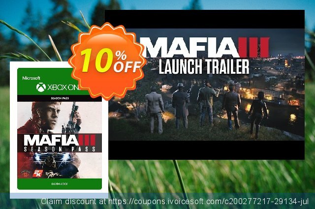 Mafia III 3 Season Pass Xbox One discount 10% OFF, 2020 Back to School event offering discount