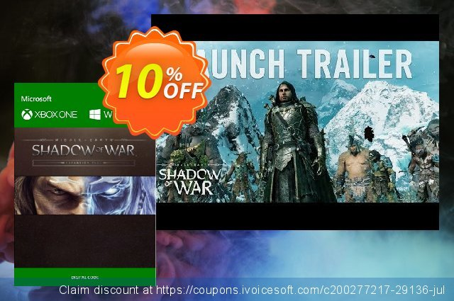 Middle-Earth: Shadow of War Expansion Pass Xbox One  놀라운   매상  스크린 샷