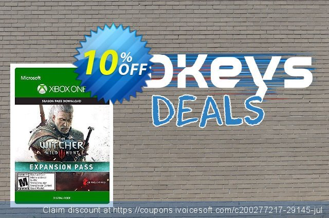 The Witcher 3: Wild Hunt Expansion Pass Xbox One - Digital Code discount 10% OFF, 2021 Talk Like a Pirate Day offering sales. The Witcher 3: Wild Hunt Expansion Pass Xbox One - Digital Code Deal
