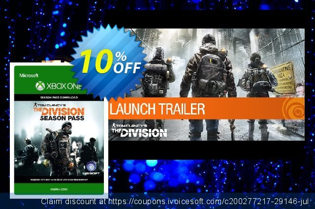 Tom Clancy's The Division Season Pass Xbox One discount 10% OFF, 2020 Halloween discounts