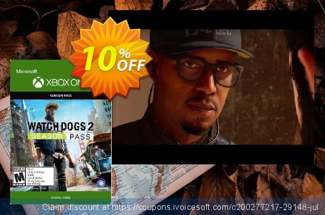 Watch Dogs 2 Season Pass Xbox One discount 10% OFF, 2020 College Student deals promotions