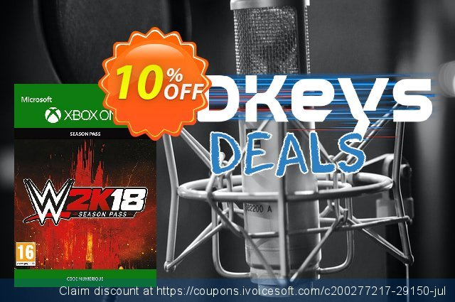 WWE 2K18 Season Pass Xbox One discount 10% OFF, 2020 College Student deals deals