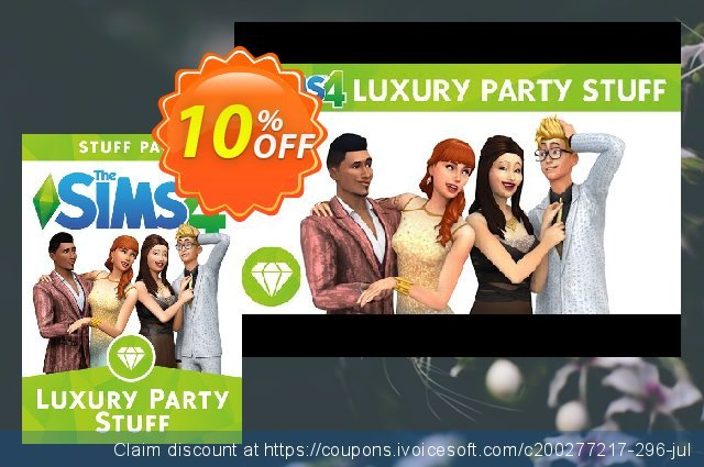 The Sims 4 - Luxury Party Stuff PC  놀라운   할인  스크린 샷