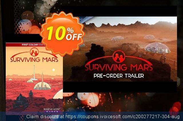 Surviving Mars First Colony Edition PC discount 10% OFF, 2021 Mother Day deals. Surviving Mars First Colony Edition PC Deal