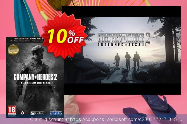 Company of Heroes 2 Platinum Edition PC discount 10% OFF, 2021 Mother's Day offering sales. Company of Heroes 2 Platinum Edition PC Deal
