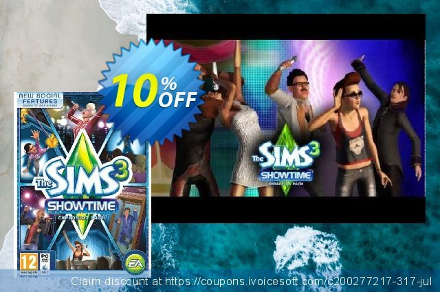 The Sims 3: Showtime (PC/Mac) discount 10% OFF, 2021 Mother's Day offering sales. The Sims 3: Showtime (PC/Mac) Deal