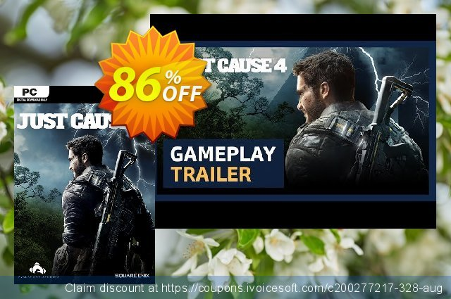 Just Cause 4 PC + DLC discount 86% OFF, 2021 Mother Day offering deals. Just Cause 4 PC + DLC Deal
