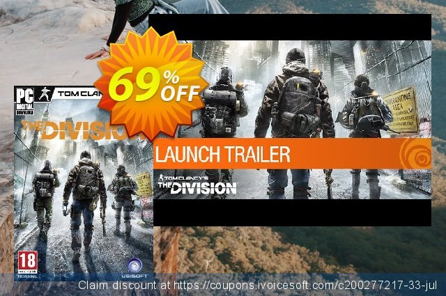 Tom Clancy's The Division PC discount 83% OFF, 2020 Back to School coupons discounts