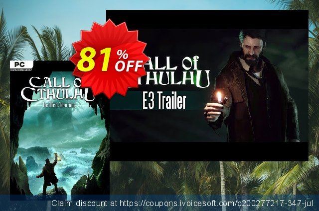 Call of Cthulhu PC discount 70% OFF, 2020 Back to School shopping offering sales