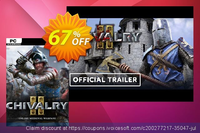 Chivalry 2 PC discount 46% OFF, 2021 World Bicycle Day offering sales. Chivalry 2 PC Deal 2021 CDkeys
