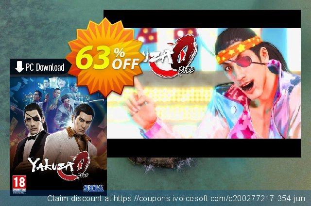 Yakuza 0 PC (EU) discount 19% OFF, 2021 Mother Day offering sales. Yakuza 0 PC (EU) Deal