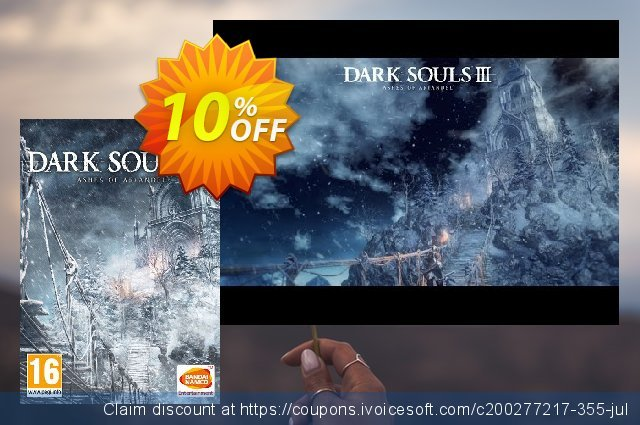 Dark Souls III 3 PC - Ashes of Ariandel DLC discount 10% OFF, 2021 Mother's Day offering sales. Dark Souls III 3 PC - Ashes of Ariandel DLC Deal
