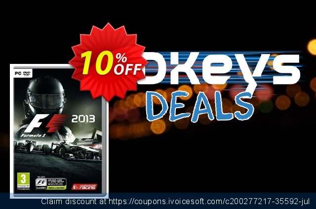F1 2013 PC discount 10% OFF, 2021 Egg Day promotions. F1 2013 PC Deal 2021 CDkeys