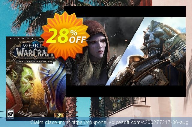World of Warcraft (WoW) Battle for Azeroth (EU) discount 28% OFF, 2021 Mother Day offering sales. World of Warcraft (WoW) Battle for Azeroth (EU) Deal