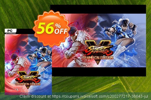 Street Fighter V 5 PC - Champion Edition Upgrade Kit DLC (WW) discount 40% OFF, 2021 Mother's Day offering discount. Street Fighter V 5 PC - Champion Edition Upgrade Kit DLC (WW) Deal 2021 CDkeys