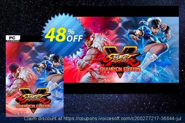 Street Fighter V - Champion Edition PC (WW) discount 16% OFF, 2021 Mother Day offering sales. Street Fighter V - Champion Edition PC (WW) Deal 2021 CDkeys