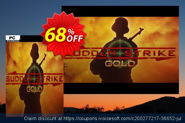 Sudden Strike Gold PC discount 69% OFF, 2021 Mother Day offering sales. Sudden Strike Gold PC Deal 2021 CDkeys
