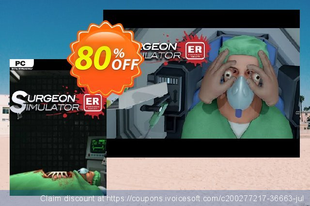 Surgeon Simulator: Experience Reality PC discount 80% OFF, 2021 Mother's Day offering sales. Surgeon Simulator: Experience Reality PC Deal 2021 CDkeys