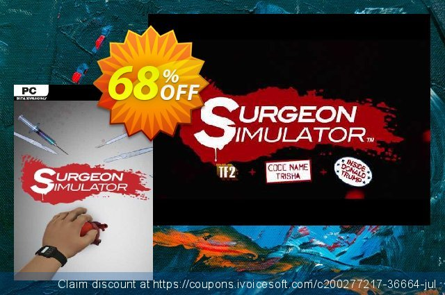 Surgeon Simulator PC discount 70% OFF, 2021 Mother Day offering deals. Surgeon Simulator PC Deal 2021 CDkeys