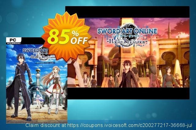 Sword Art Online: Hollow Realization Deluxe Edition PC (EU) discount 84% OFF, 2021 Mother Day offering sales. Sword Art Online: Hollow Realization Deluxe Edition PC (EU) Deal 2021 CDkeys