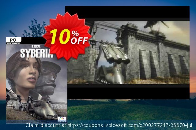 Syberia PC discount 10% OFF, 2021 Mother Day offering sales. Syberia PC Deal 2021 CDkeys