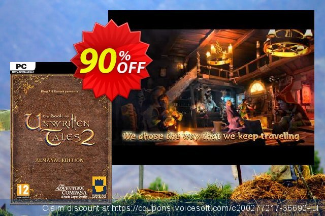 The Book of Unwritten Tales 2 Almanac Edition PC discount 32% OFF, 2021 Mother Day offering sales. The Book of Unwritten Tales 2 Almanac Edition PC Deal 2021 CDkeys