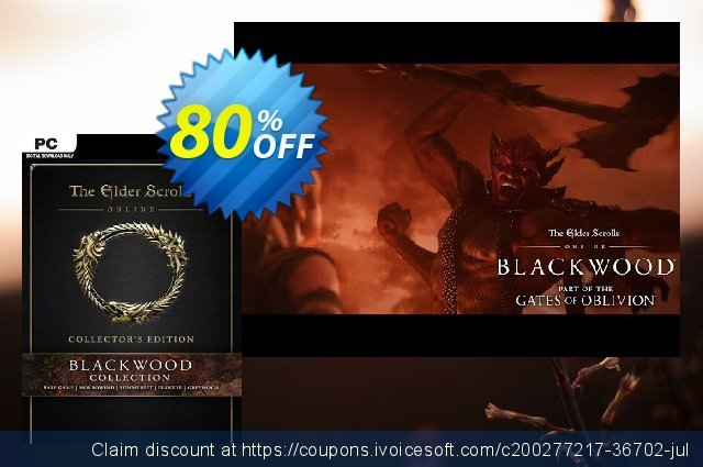 The Elder Scrolls Online: Blackwood Collector's Edition PC discount 56% OFF, 2021 Mother Day offering deals. The Elder Scrolls Online: Blackwood Collector's Edition PC Deal 2021 CDkeys