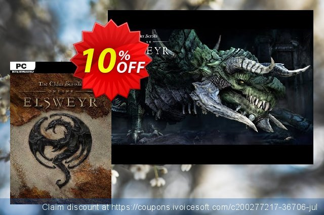 The Elder Scrolls Online - Elsweyr PC (Bethesda) discount 10% OFF, 2021 Mother Day offering sales. The Elder Scrolls Online - Elsweyr PC (Bethesda) Deal 2021 CDkeys