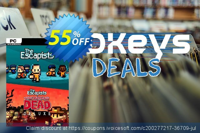 The Escapists + The Escapists: The Walking Dead Deluxe PC discount 84% OFF, 2021 Mother's Day offering sales. The Escapists + The Escapists: The Walking Dead Deluxe PC Deal 2021 CDkeys