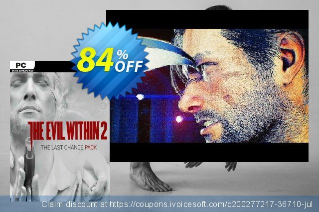 The Evil Within 2: Last Chance Pack PC - DLC (EU) discount 84% OFF, 2021 Mother Day offering sales. The Evil Within 2: Last Chance Pack PC - DLC (EU) Deal 2021 CDkeys