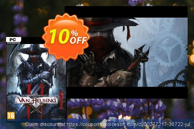 The Incredible Adventures of Van Helsing II PC discount 10% OFF, 2021 Mother Day promo sales. The Incredible Adventures of Van Helsing II PC Deal 2021 CDkeys