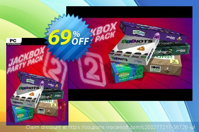The Jackbox Party Pack 2 PC (EN) discount 69% OFF, 2021 Mother Day offering sales. The Jackbox Party Pack 2 PC (EN) Deal 2021 CDkeys