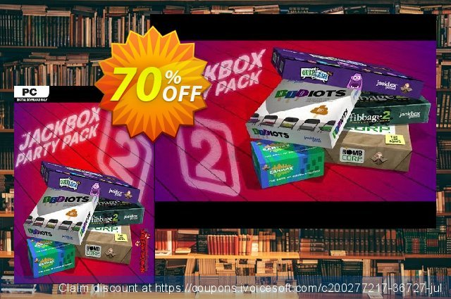 The Jackbox Party Pack 2 PC discount 58% OFF, 2021 Mother's Day offering sales. The Jackbox Party Pack 2 PC Deal 2021 CDkeys