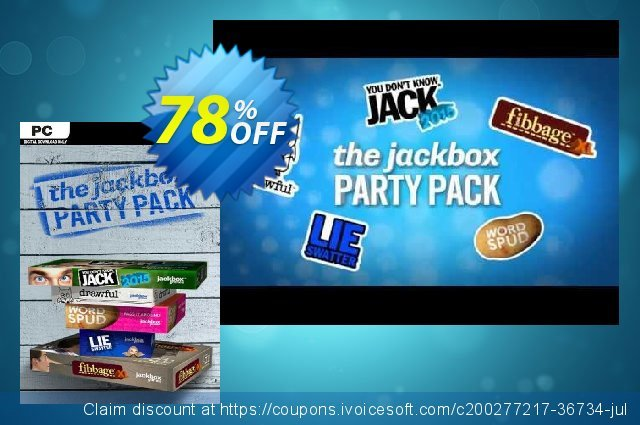 The Jackbox Party Pack PC discount 66% OFF, 2021 Mother Day sales. The Jackbox Party Pack PC Deal 2021 CDkeys