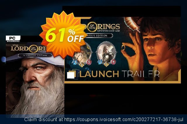 The Lord of the Rings: Adventure Card Game - Definitive Edition PC discount 48% OFF, 2021 Mother Day offering discount. The Lord of the Rings: Adventure Card Game - Definitive Edition PC Deal 2021 CDkeys