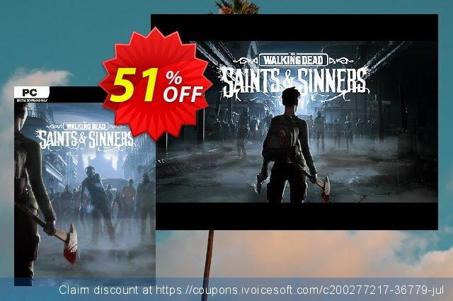 The Walking Dead: Saints and Sinners VR PC (EN) discount 51% OFF, 2021 Mother's Day promo sales. The Walking Dead: Saints and Sinners VR PC (EN) Deal 2021 CDkeys