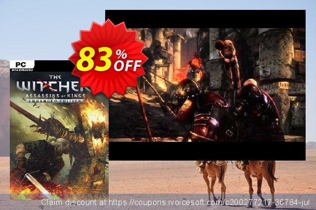 The Witcher 2: Assassins of Kings Enhanced Edition PC discount 93% OFF, 2021 Mother Day offering sales. The Witcher 2: Assassins of Kings Enhanced Edition PC Deal 2021 CDkeys