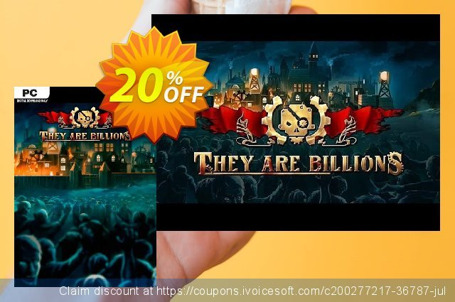 They Are Billions PC discount 15% OFF, 2021 Mother's Day offering sales. They Are Billions PC Deal 2021 CDkeys