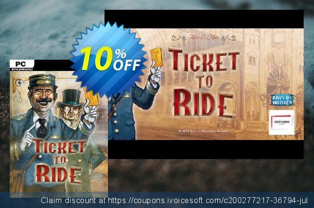 Ticket to Ride PC discount 10% OFF, 2021 Mother Day discount. Ticket to Ride PC Deal 2021 CDkeys
