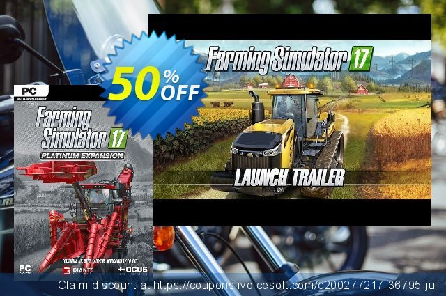 Farming Simulator 17 - Platinum Expansion PC discount 10% OFF, 2021 Mother's Day offering discount. Farming Simulator 17 - Platinum Expansion PC Deal 2021 CDkeys