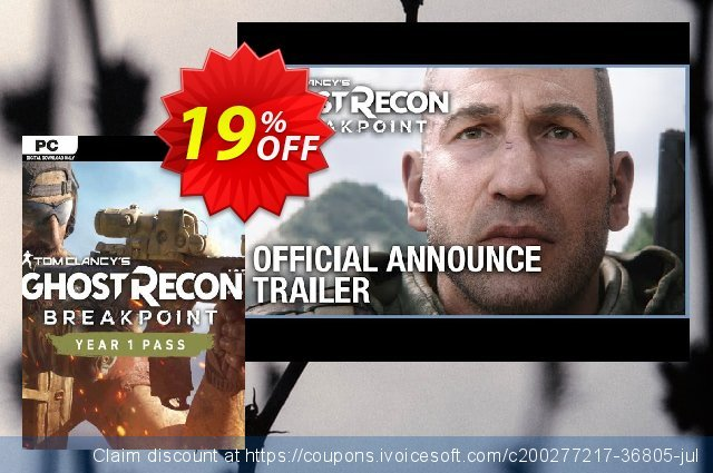 Tom Clancy's Ghost Recon Breakpoint - Year 1 Pass PC (EU) discount 15% OFF, 2021 Mother's Day offering sales. Tom Clancy's Ghost Recon Breakpoint - Year 1 Pass PC (EU) Deal 2021 CDkeys