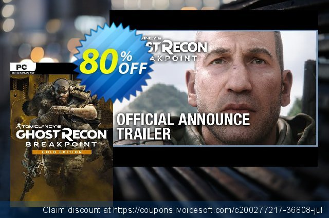 Tom Clancy's Ghost Recon Breakpoint - Gold Edition PC (EU) discount 80% OFF, 2021 Mother Day discounts. Tom Clancy's Ghost Recon Breakpoint - Gold Edition PC (EU) Deal 2021 CDkeys