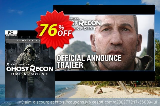 Tom Clancy's Ghost Recon Breakpoint - Ultimate Edition PC (EU) discount 77% OFF, 2021 Mother's Day promotions. Tom Clancy's Ghost Recon Breakpoint - Ultimate Edition PC (EU) Deal 2021 CDkeys