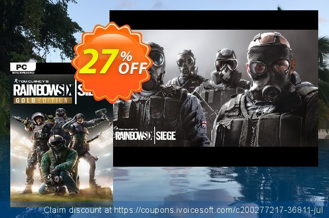Tom Clancy's Rainbow Six Siege Year 4 Gold Edition PC (EU) discount 27% OFF, 2021 Mother's Day deals. Tom Clancy's Rainbow Six Siege Year 4 Gold Edition PC (EU) Deal 2021 CDkeys