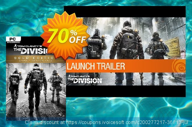 Tom Clancy's The Division Gold Edition PC (EU) discount 69% OFF, 2021 Mother's Day discount. Tom Clancy's The Division Gold Edition PC (EU) Deal 2021 CDkeys