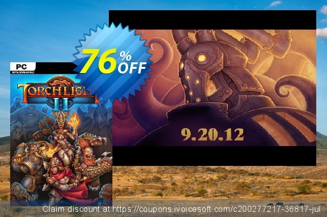 Torchlight II PC discount 77% OFF, 2021 Mother's Day promo sales. Torchlight II PC Deal 2021 CDkeys