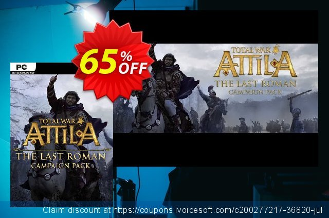 Total War: ATTILA - The Last Roman Campaign Pack PC (EU) discount 64% OFF, 2021 Mother Day offering sales. Total War: ATTILA - The Last Roman Campaign Pack PC (EU) Deal 2021 CDkeys